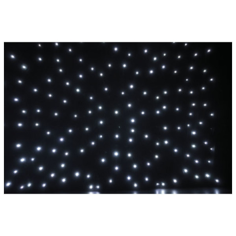 Showtec Starcloth 6mt x 3mt with white LED lamps
